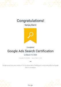 Google Ads Search Certification _ Google